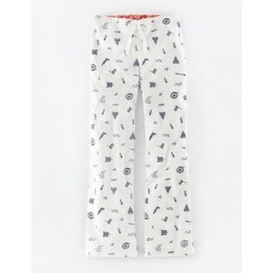 Boden Pull-On Pajama Pants White Womens Size 10